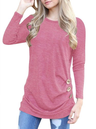 Round Neck Plain Woman T-shirts