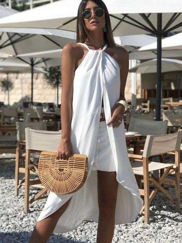 Sexy Sleeveless Halt Beach Shift Dresses