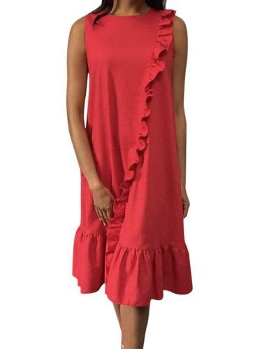 Fashion Casual Falbala Maxi Dresses