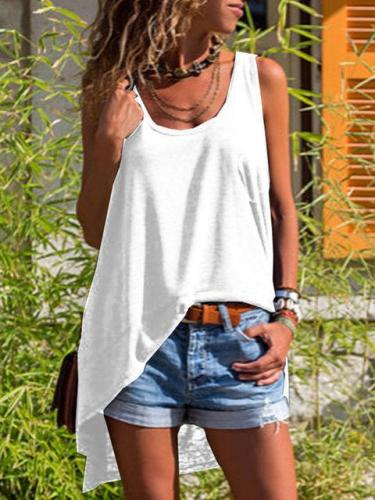Casual Sleeveless Loose Vest T-Shirts