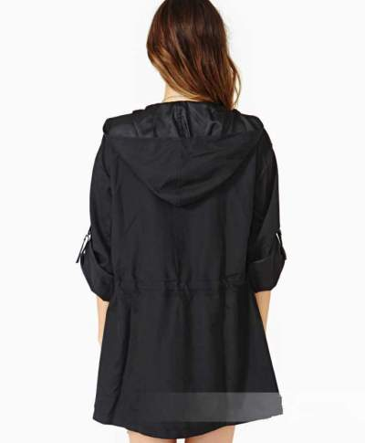 Fashion Pure Lacing Hoodies Coats