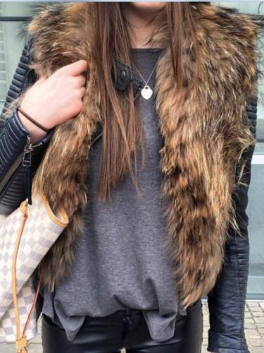 Faux Fur Fashion Waistcoat