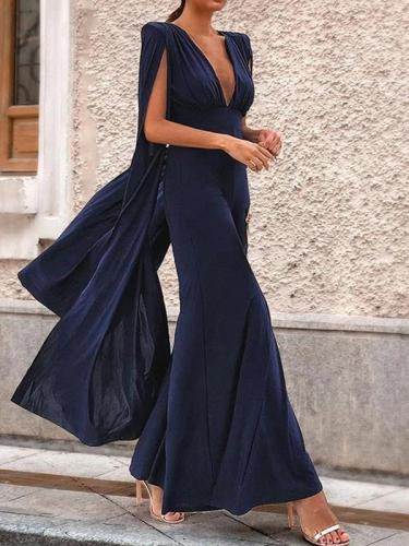 Elegant women plain long length jumpauits
