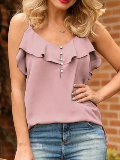 Sweet women sleeveless strap vests
