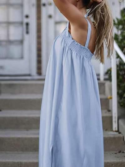 Fashion Casual Pure Vest Sleeveless Maxi Dresses