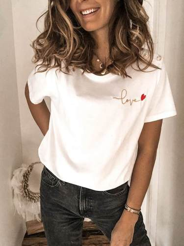 Love Printed short sleeve T-shirts