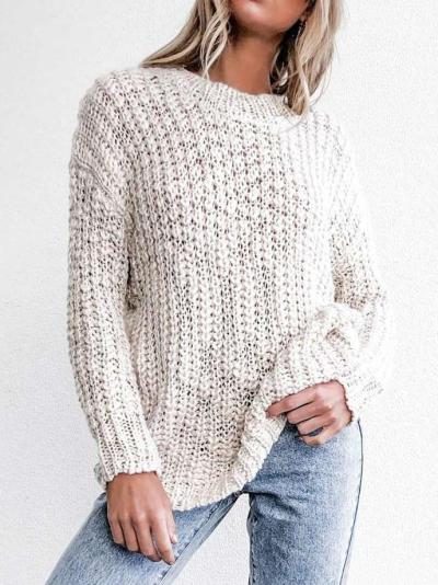 Fashion Loose Hollow out Long sleeve Sweaters