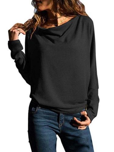 Fashion Long Batwing Sleeve Plain T-Shirts