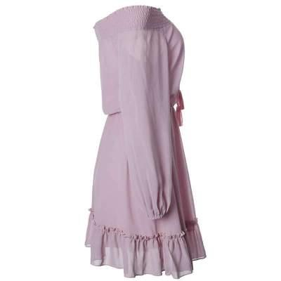 Fashion Off shoulder Puff sleeve Skater Dresses