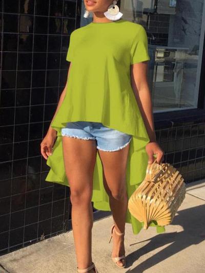 Irregular front and back chic fashion T-shirts