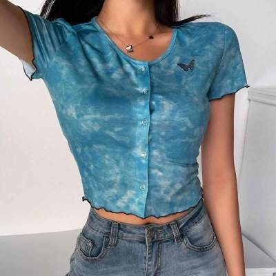 Fashion Round neck Short sleeve Print T-Shirts