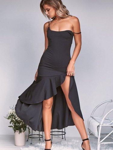 Sexy Vest Falbala Skater Dresses