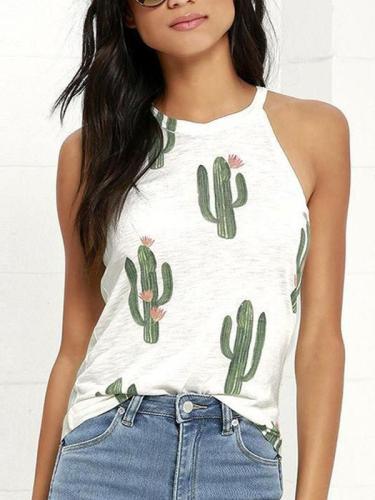 Printed Cute Woman Summer Vests