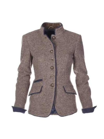 New autumn and winter slim long sleeve stand up neck short coats