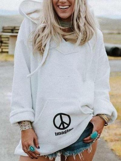 Casual Loose Long sleeve Hoodies Sweatshirts