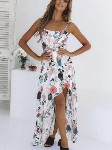 Fashion Sleeveless Print Vest Skater Dresses