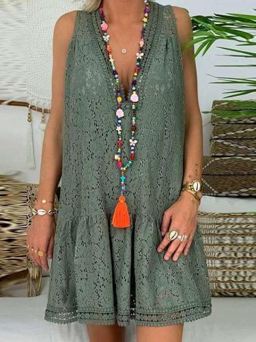Fashion Cutout Lace Shift Dresses