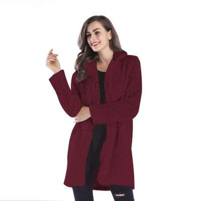 Fashion Lapel  Hairy Long sleeve Coats