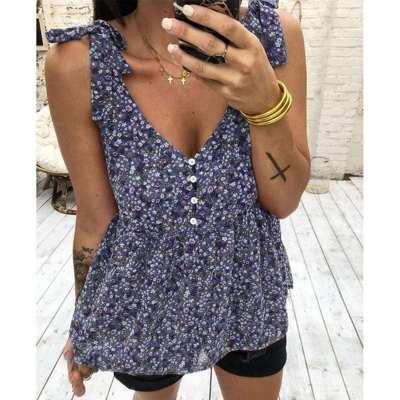 Fashion Print Vest Shift Dresses