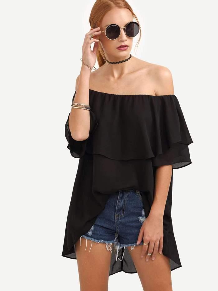 Off shoulder Loose T-Shirts