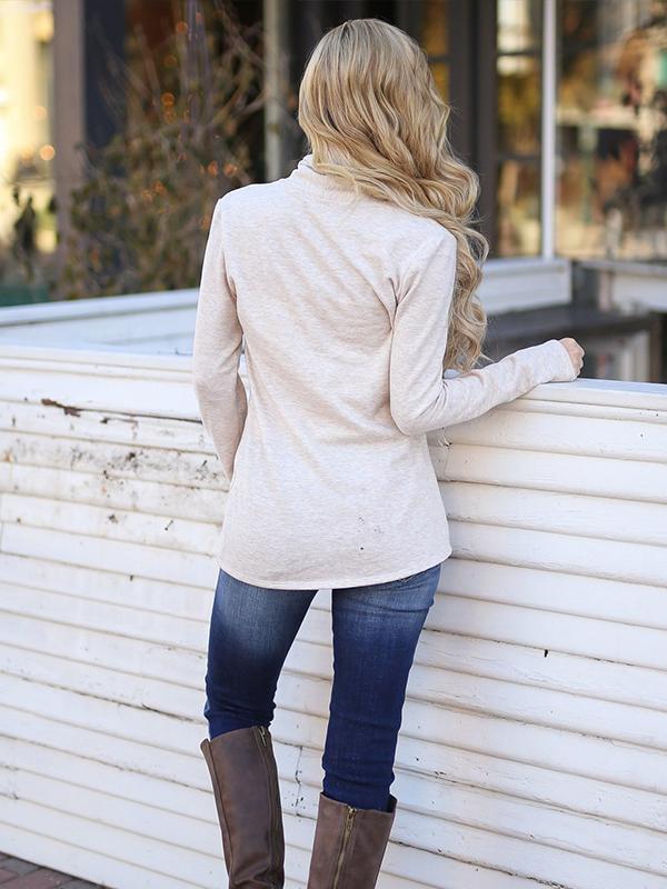 Long Sleeves Buttons Cardigan Sweatshirts