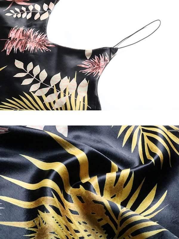 Summer Sleeveless Ladies leaf printed halter Vests