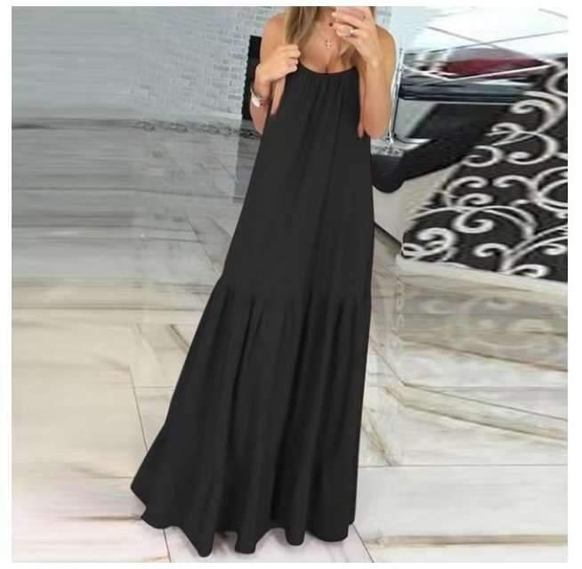 Casual Pure Vest Sleevelesss Maxi Dresses