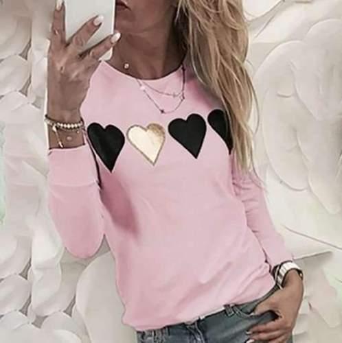 Fashion Print Round neck Long sleeve Sweatshirt T-Shirts