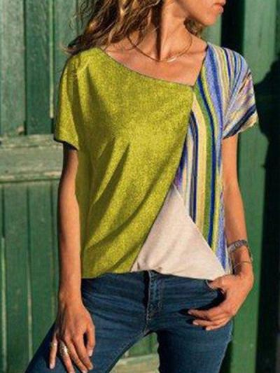 Colorful stripes with contrasting collars  T-shirts