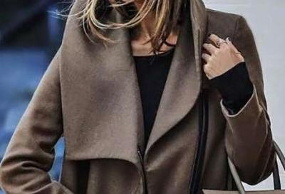 Fashion Casual Loose Pure Lapel Long sleeve Women Coats
