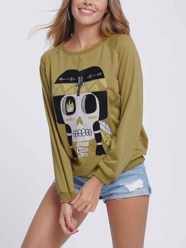 Women printed long sleeve sweatshirts