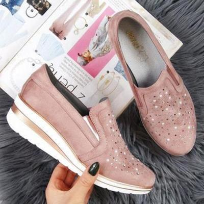 Pointed Toe Water-drill loafers