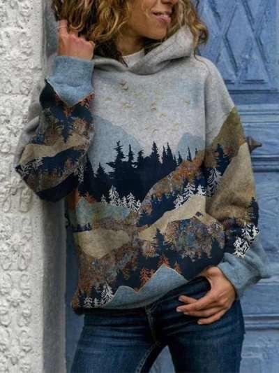 Fashion Casual Classics Print Hoodie Long sleeve Sweatshirts