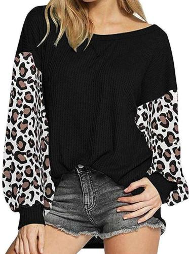 Fashion Gored Long sleeve Round neck Knit Sweaters