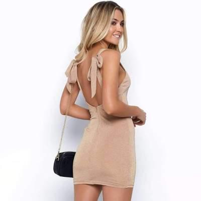 Pure Vest Sleeveless Lacing Bodycon Dresses