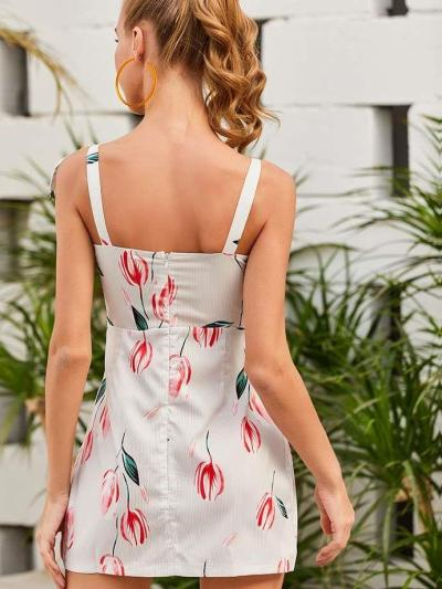 Fashion Sexy Print Vest Shift Dresses