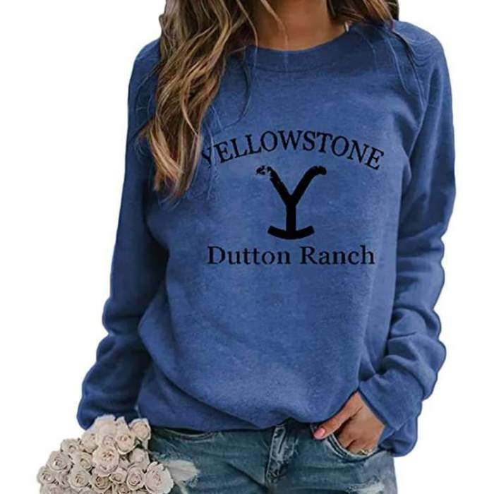Fashion  printed round neck long sleeve sweatshirts