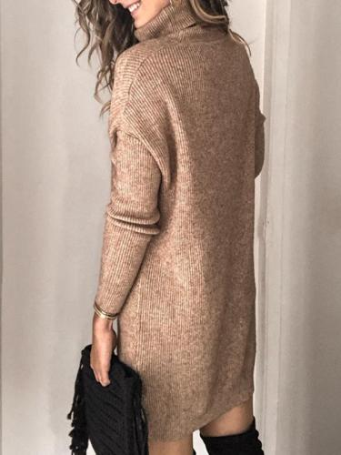 High neck warm plain good quality sweaters
