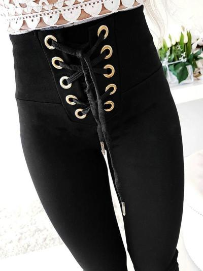 Fashion sexy slim strap casual long pants