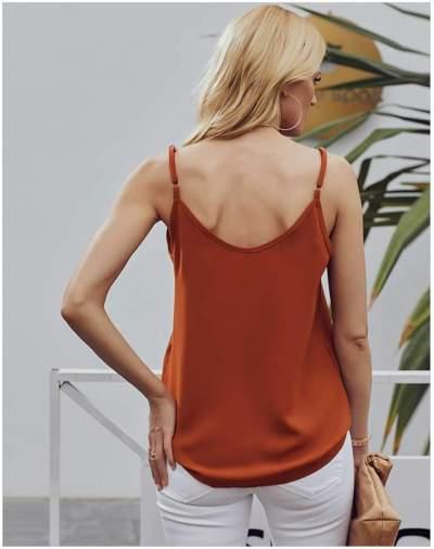 Sexy V neck  Fastener Vests