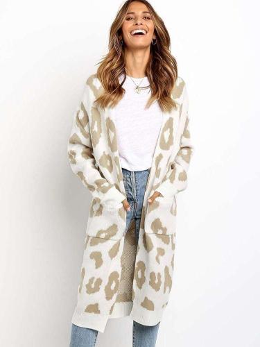 Fashion Print Long sleeve knit Cardigan