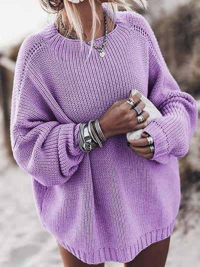 Loose round neck women fashion sweaters