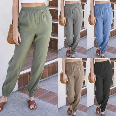 Casual Loose Pure Elastic Wasit Pants