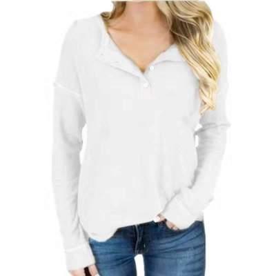 Fashion Pure  Fastener Long sleeve T-Shirts