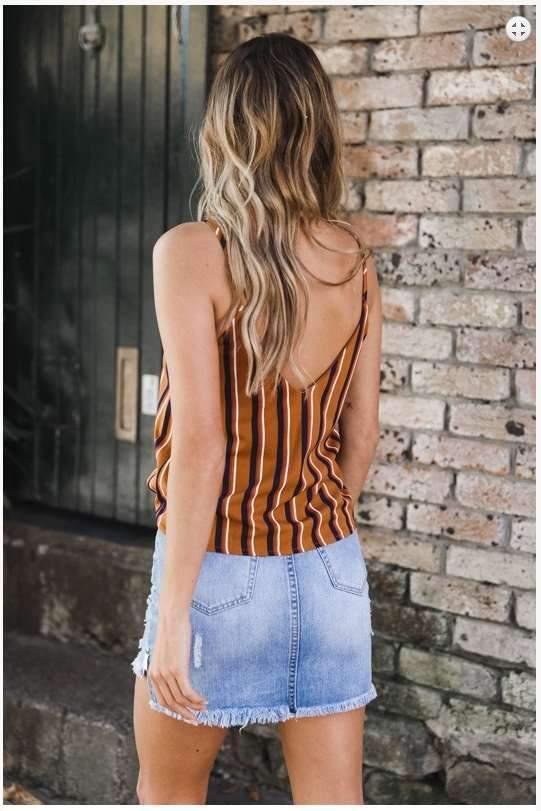 Stripe Single breasted Vests