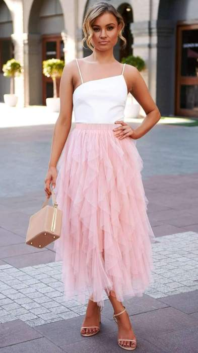 Fashion Pure Grenadine Bubble Skirts