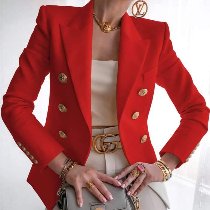 Fashion Pure Lapel Long sleeve Blazer