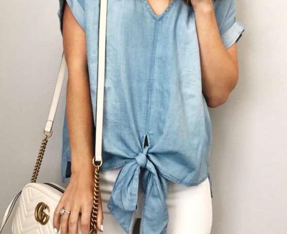 Loose V neck Short sleeve T-Shirts
