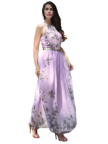 Fashion Plus Belt Halt Maxi Dresses