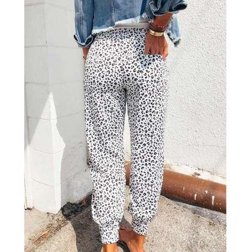 Fashion Sexy Casual Leopard print Pants